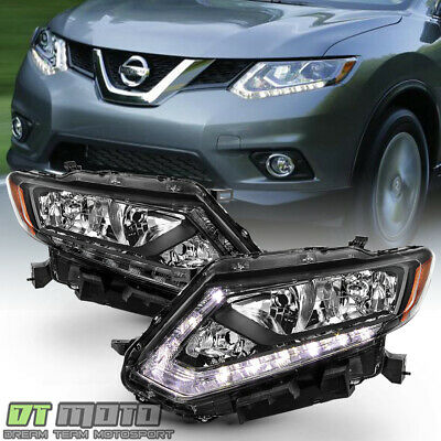 For 2014 2015 2016 Rogue OE Style Halogen Headlights Headlamps Pair Left+Right