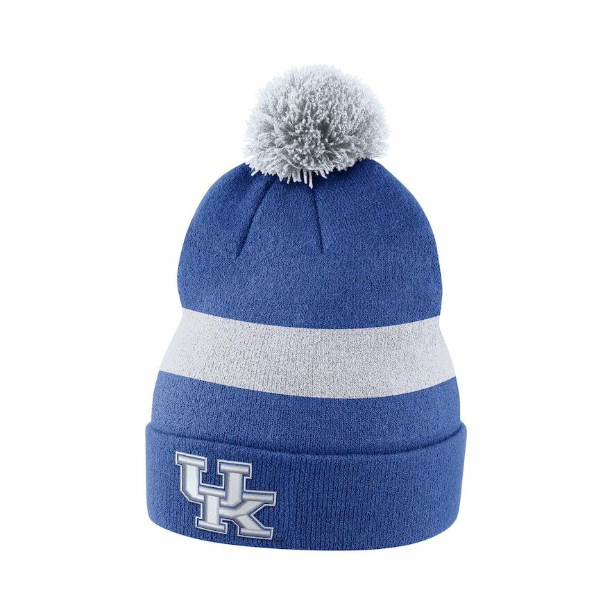 e932a52d0a6 Details about New Adult NCAA Nike Kentucky Wildcats Sideline Beanie Hat Blue