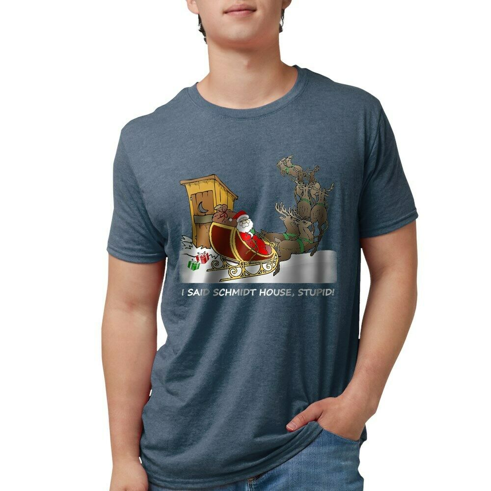 ab817cb28fc Details about CafePress Schmidt House Funny Christmas T Shirt Mens  Tri-Blend (163297214)