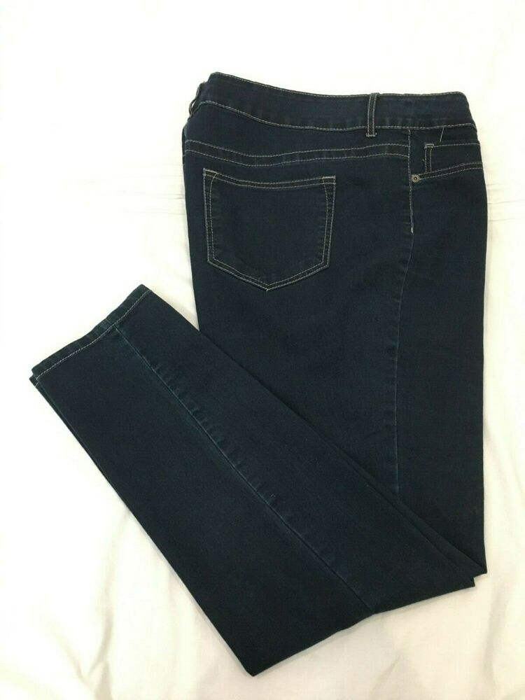fca193273cc Details about ( - ) MAURICES   Womens Stretch Skinny Blue Jeans   Denim   Size  20 Reg