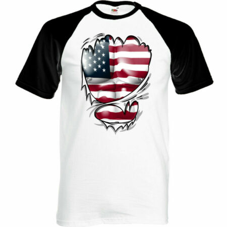 img-Ripped Torn USA Flag Mens American T-Shirt Stars & Stripes Independence Day Top