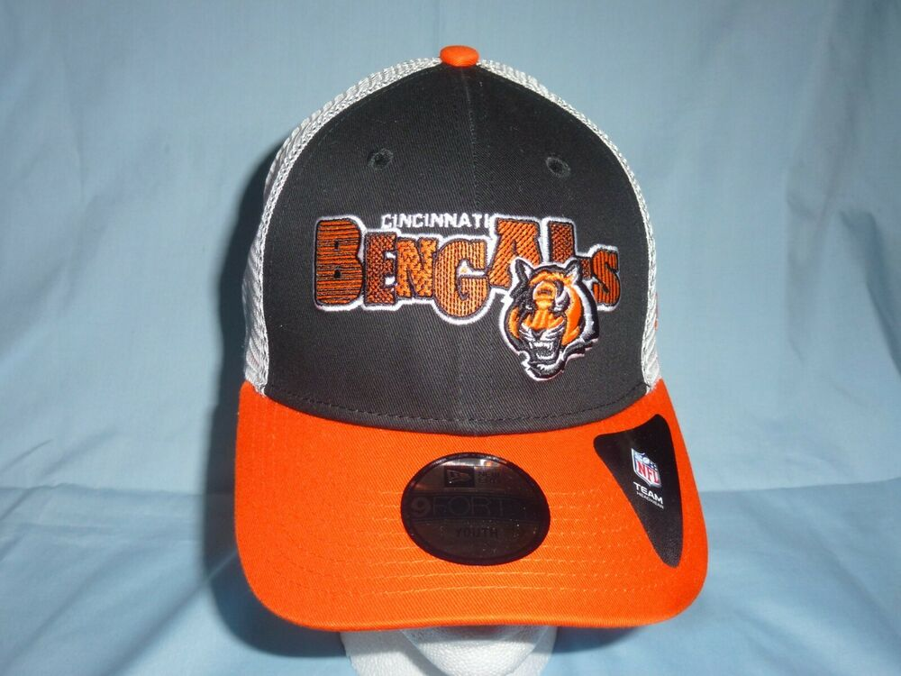 83e8fc42a2558 Details about CINCINNATI BENGALS New Era 9Forty Trucker CAP HAT Adjustable  Youth Size NWT  22