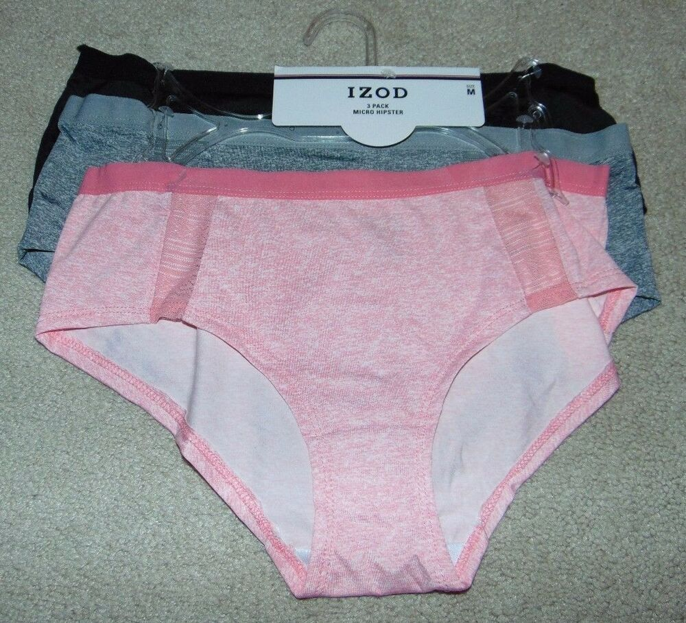 7463d3d1eb2b92 Details about ~3 NWT Women's IZOD Micro Hipster/Panties! Size M Cute $30  FS:)~