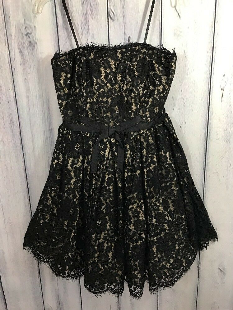 d5358037aa5 Details about Neiman Marcus For Target Prom Dress Cocktail Black Strapless Lace  NWT Size 4 6 8