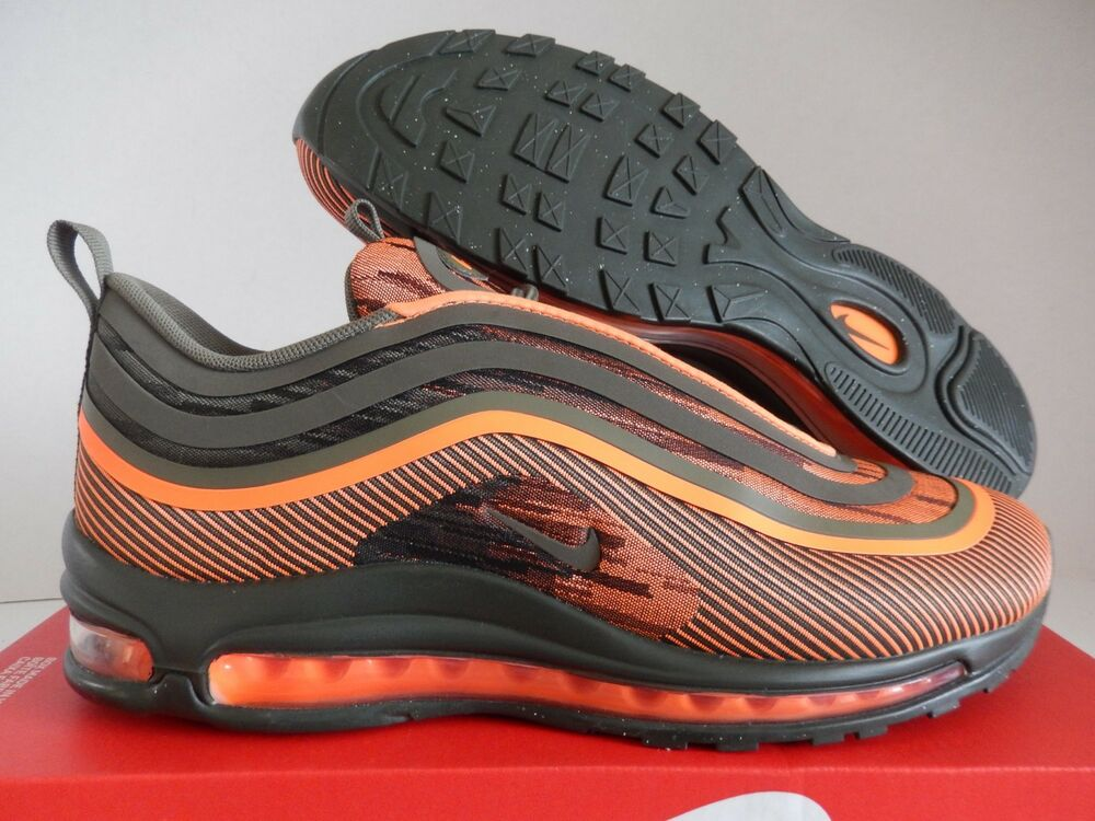 2b9198c30e Details about NIKE AIR MAX 97 UL '17 TOTAL ORANGE-OLIVE GREEN SZ 10  [918356-801]