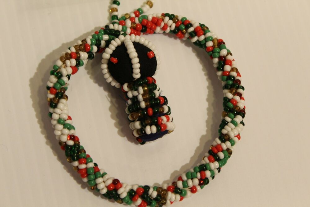 Doll Wire Beaded Christmas Ornaments From Johannesburg South Africa Ebay