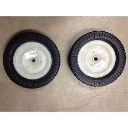 Craftsman Agri-Fab Lawn Sweeper Wheel & Tire Complete Assembly Set 44985 Qty 2
