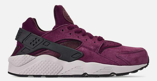 brand new 67388 c3252 Details about NIKE AIR HUARACHE RUN PREMIUM MEN s RUNNING BORDEAUX - BLACK  - LITE BONE NEW SZ