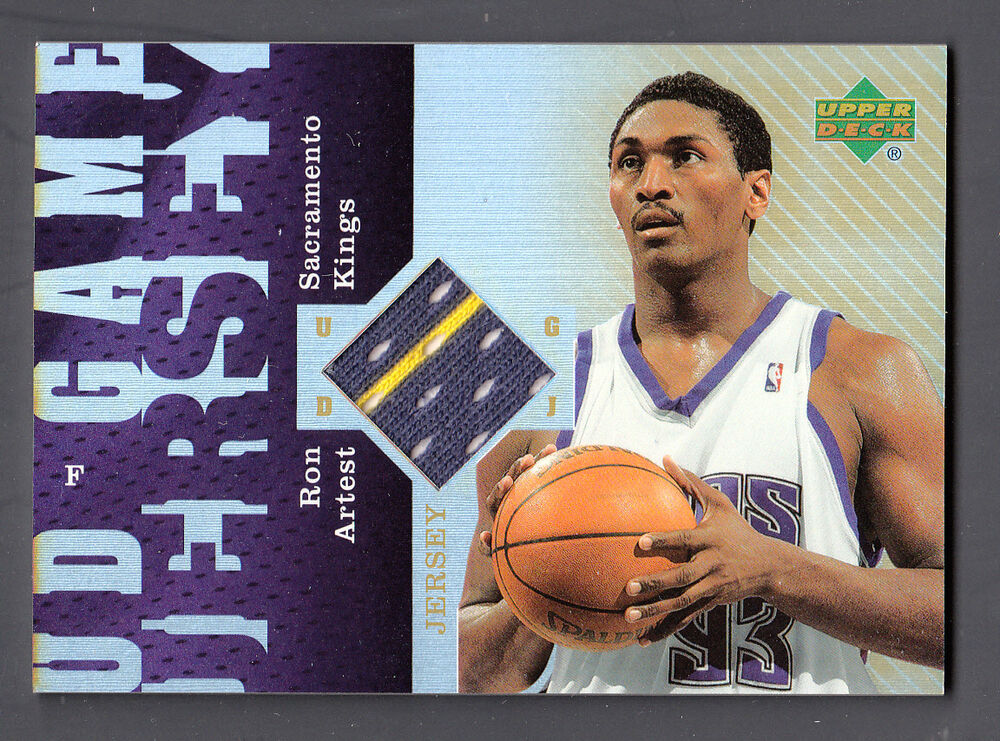 7d615c218 Details about Ron Artest 2006-07 UD Reserve Game Worn 2 color Jersey Card