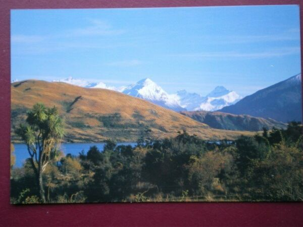 POSTCARD OCEANIA AUSTRALASIA NEW ZEALAND - MOUNT ASPIRING & LAKE WANKA