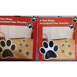 Unique dog puppy foot paw print cling ons reusable NEW 16 paw prints