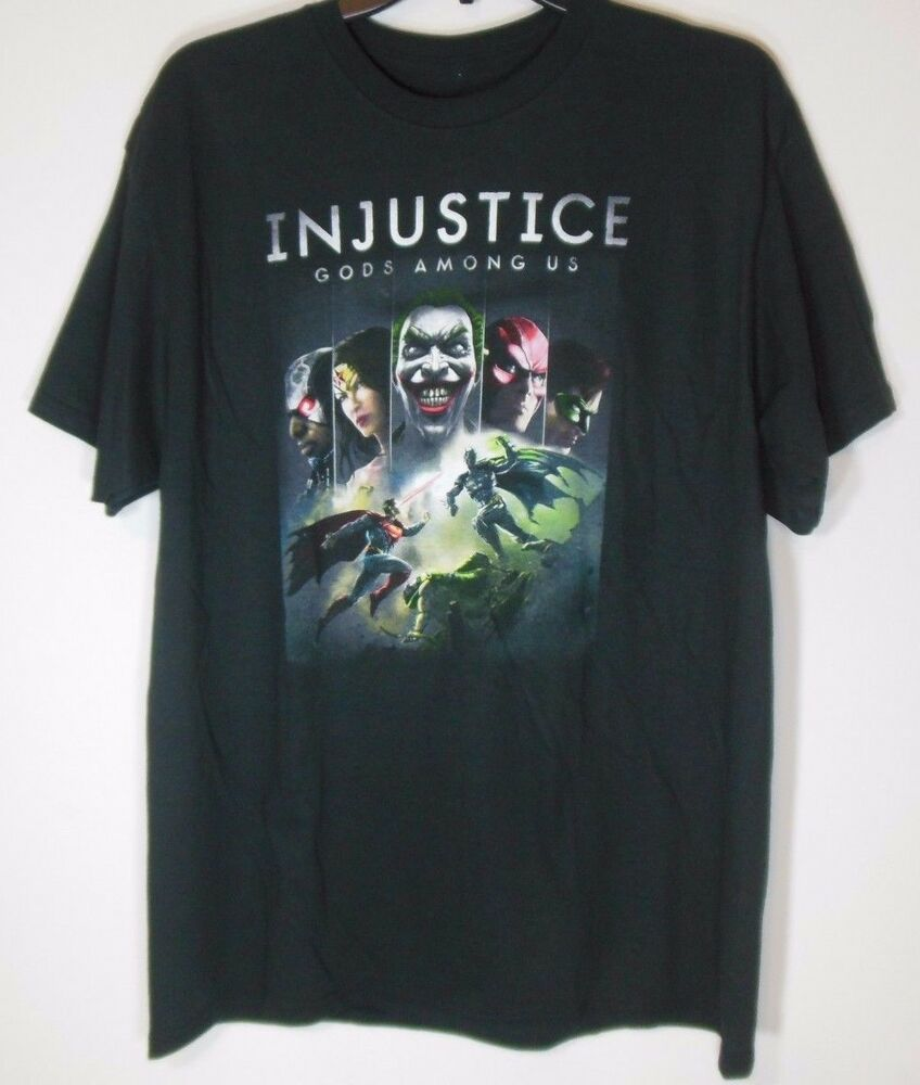 f9d61ad9f4 Details about INJUSTICE * NEW Men's Large * T-shirt NWT Graphic Tee Tags  gods among us