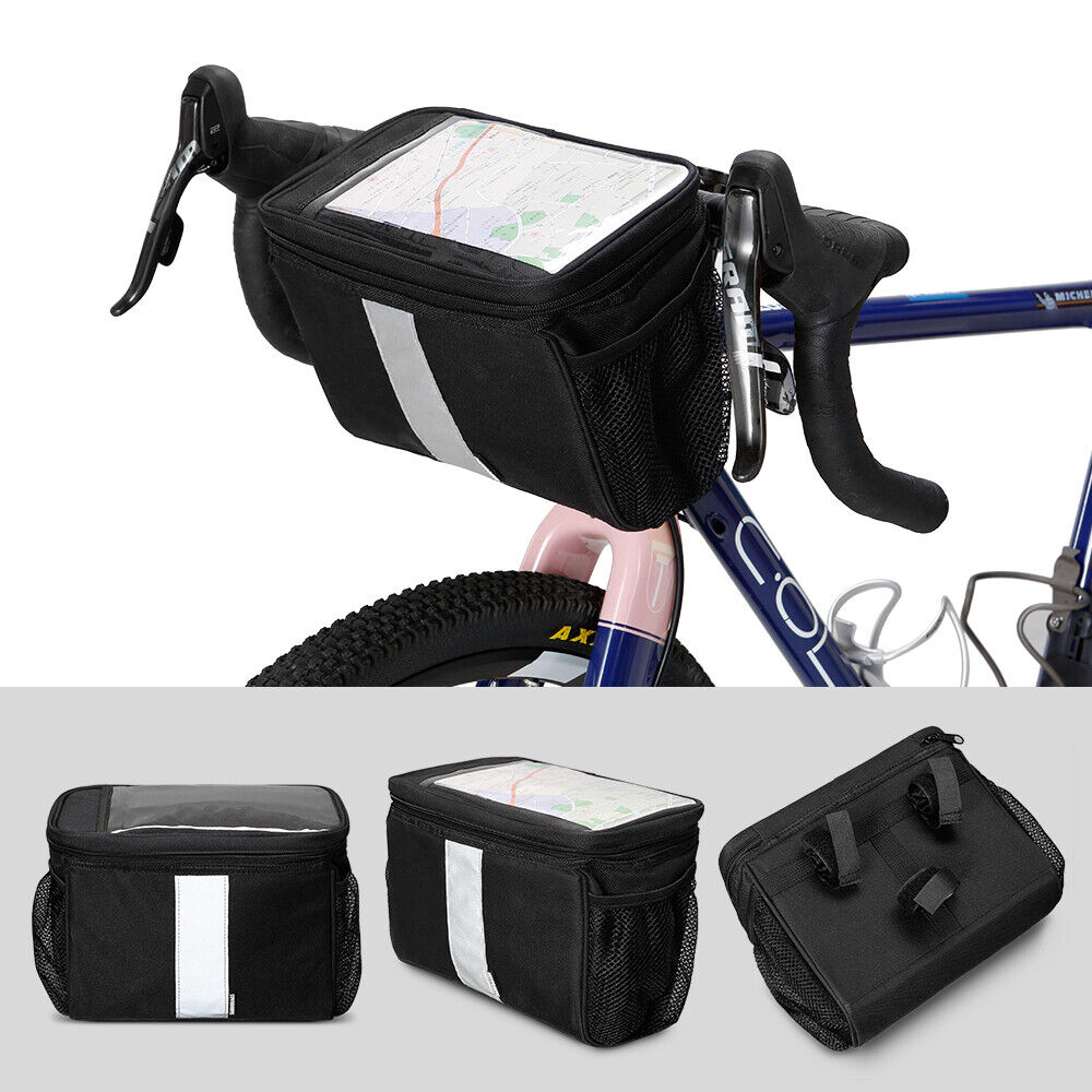AB/_ Bicycle Front Bag Cycling Basket Pannier Frame Tube Handlebar Pouch Outdoor