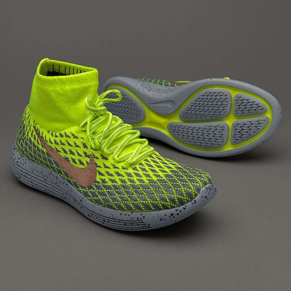 big sale ff7b6 def7e Details about Nike LunarEpic Flyknit Shield Volt Metallic Red Bronze Grey  849664 700 Size 14