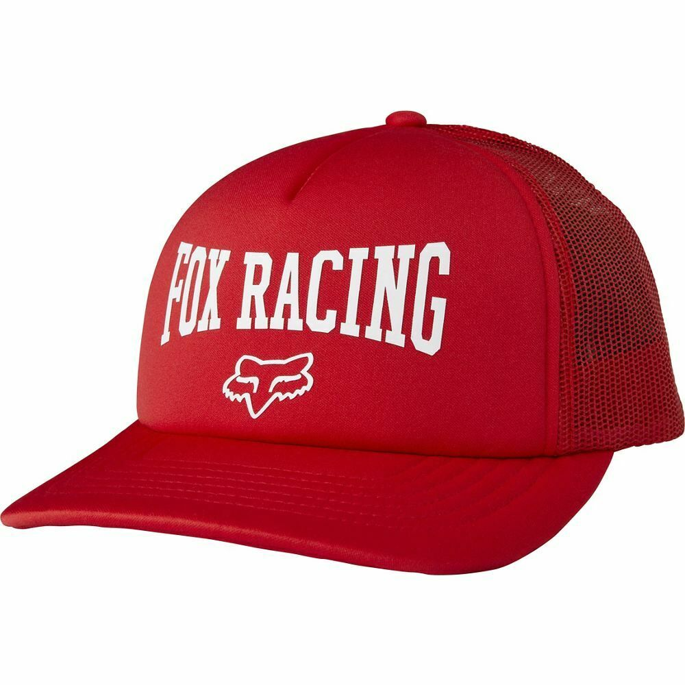 more photos 9c2c8 7ec42 Details about Fox Womens 4 Ever Trucker Snapback Bright Red One Size New