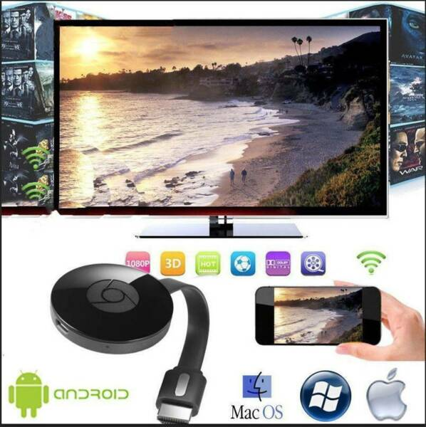 CHROMECAST  WIRELESS MIRASCREEN HDMI DISPLAY DONGLE MEDIA VIDEO STREAMER