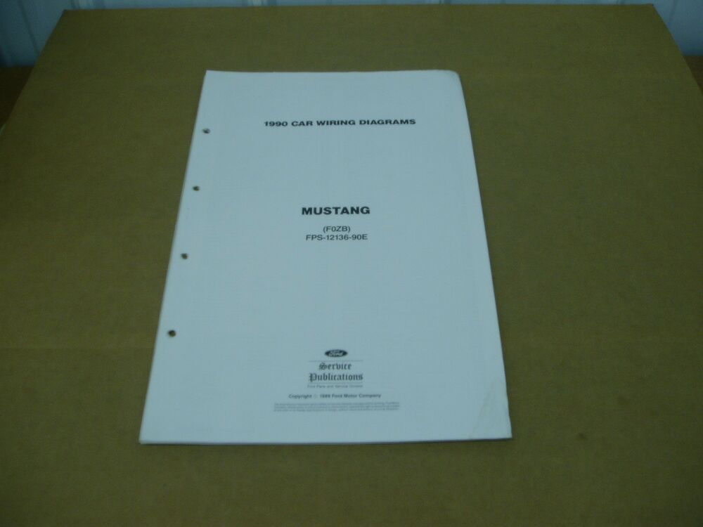 1990 Ford Mustang Wiring Diagram Electrical Schematics Sheet Service Shop Manual