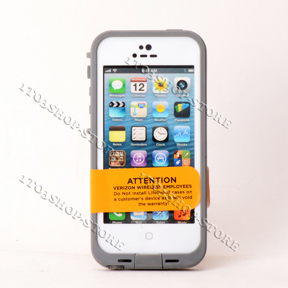 Details about lifeproof fre waterproof iphone 5 iphone 5s iphone se case white bulk package