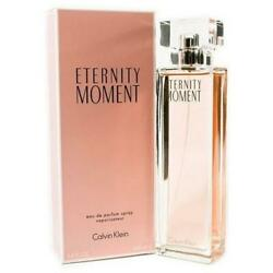 ETERNITY MOMENT by Calvin Klein 3.4 oz edp Perfume New in Box