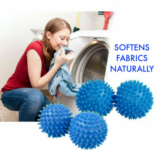 2 or 4 PACK TUMBLE DRYER CLOTHES SOFTENER WASHING MACHINE BALLS CLOTHES SOFTENS