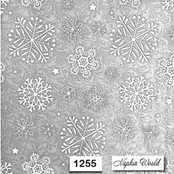 (1255) TWO Individual Paper Luncheon Decoupage Napkins - SNOWFLAKES gray WINTER