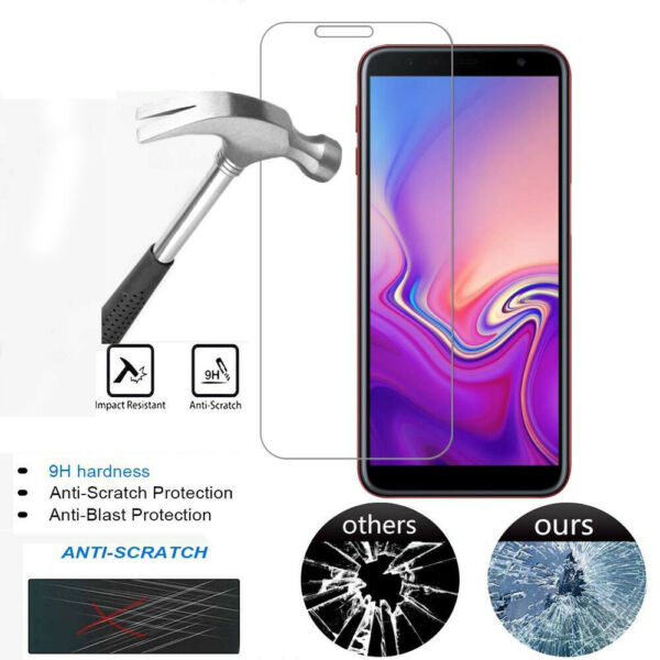 For  Samsung Galaxy J4 J6 Plus Protective Tempered Glass Film Screen Protector