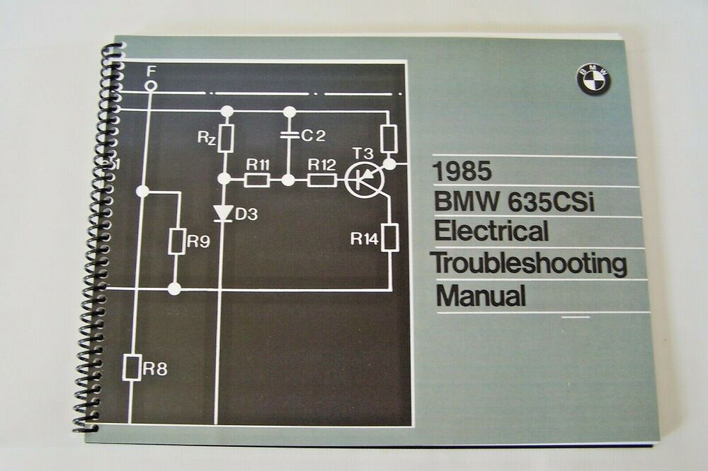 1985 bmw 635 csi owners electrical troubleshooting service. Black Bedroom Furniture Sets. Home Design Ideas