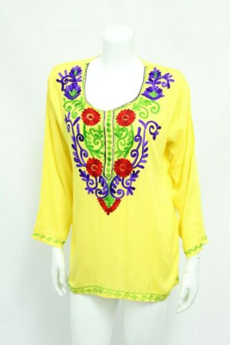 Mexican Colorful Tops/Blouses Colorful Hand Stitched