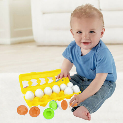 Matching Puzzle 12 Eggs Toddler Toys Color and Shape Recognition Early Education
