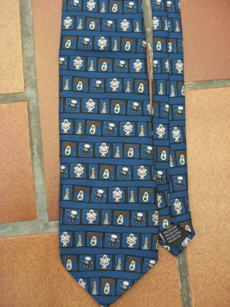 cravate tie Wallace & Gromit Nick Park cartoon penguin sheep idéal KDO