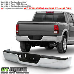 Kyпить 2009-2018 Dodge Ram 1500 10-12 2500 3500 Complete Chrome Rear Bumper Assembly на еВаy.соm