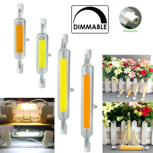 R7s LED 118mm 78mm Dimmable COB Bulbs 7W 12W 15W 25W Ceramic Glass Tube Light KT