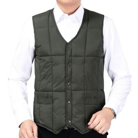 img-Men Puffer Waistcoat Body Warmer Gilet Padded Quilted Vest Top Jacket Winter