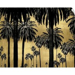 Palms on Gold Wall Decal