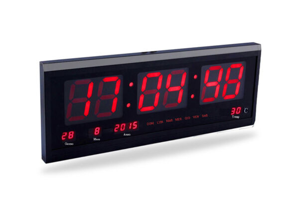 Orologio datario digitale led parete con data temperatura display ufficio JH4600