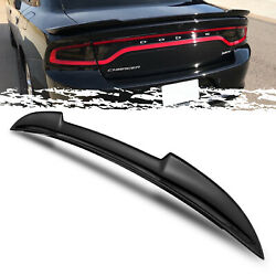 For 11-18 Dodge Charger Hellcat Style Gross Black ABS Trunk Deck Spoiler Wing