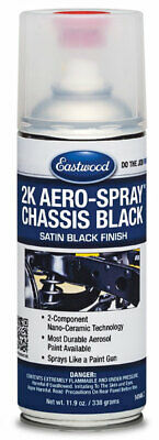 Eastwood Chassis Black Satin 2 Component Coat 30% Gloss 2K Ceramic Aerosol 12 Oz