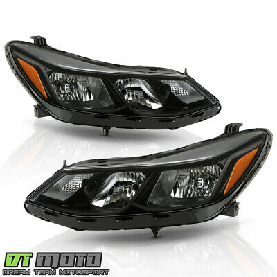 [ALL BLACK] 2016 2017 2018 Chevy Cruze Halogen Headlights Headlamps Left+Right