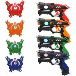 Kyпить Laser Tag Guns and Vests Set of 4 Pack Infrared Blasters Battle Multiplay на еВаy.соm