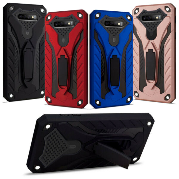 Samsung Galaxy S10 S10E S10 Plus Shockproof Armour Heavy Duty Stand Case Cover