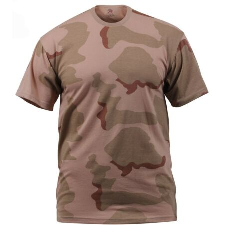 img-camo t-shirt tri color desert camouflage cotton poly blend rothco 8767