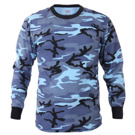 img-t-shirt camo long sleeve sky blue camouflage cotton poly blend rothco 67770