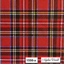 (1598) TWO Individual Paper Luncheon Decoupage Napkins - RED PLAID FLANNEL