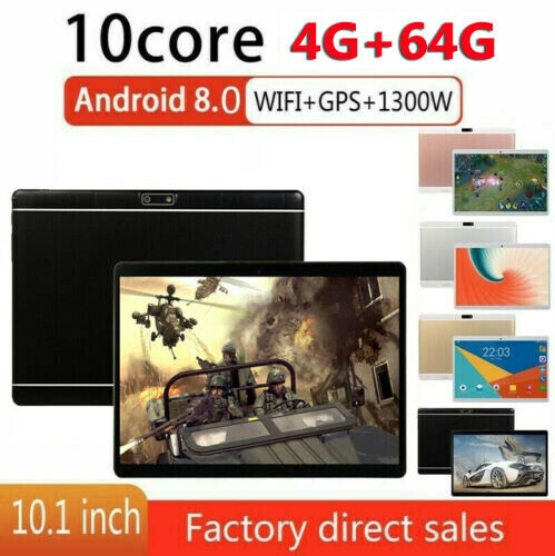 10.1'' 8GB+128GB Tablet PC Bluetooth Android 8.0 Octa 10 Core Dual Sim ROSA Hot