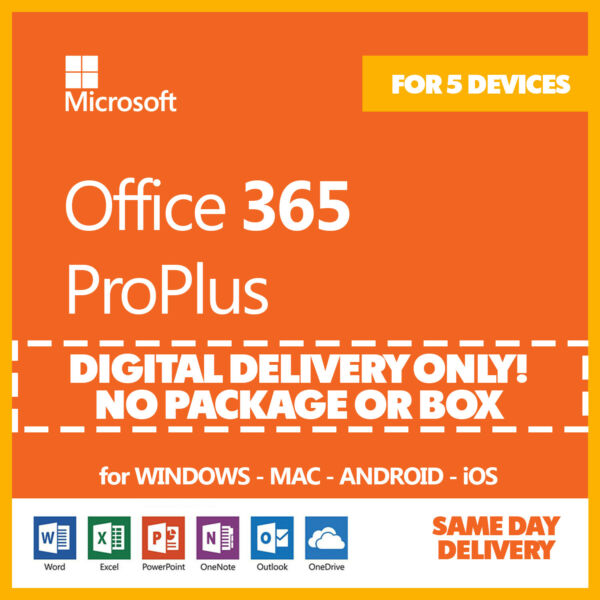 Office 365 Home Personal 2016 2019 ProPlus PC or Mac 2 Years 🔐 5 Devices