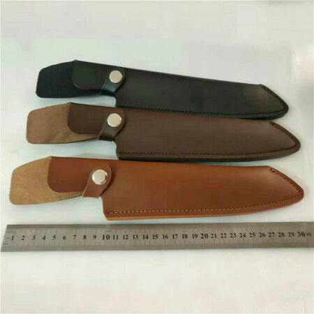 img-1X Leather Belt Straight Knife Sheath Pouch Cover Case Fixed Blade Portable