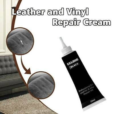 Black Leather and Vinyl Repair Cream Kit - Furniture Couch Car Seats Sofa Jacket