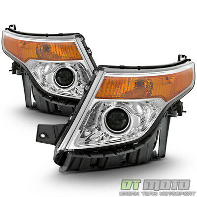 2011-2015 Ford Explorer Headlights Headlamps Lights Left+Right 11 12 13 14 15