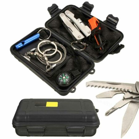 img-Outdoor Emergency Survival Kit First Aid Set Rescue Set Hiking Camping SOS New