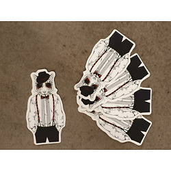 Tiger in suit style sticker pack x 5